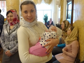 Крещение Полины Гнедовой 14.02.2016