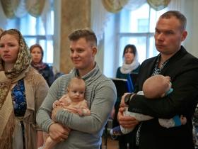 Крещение Богдана Кокина и Евы Головиной