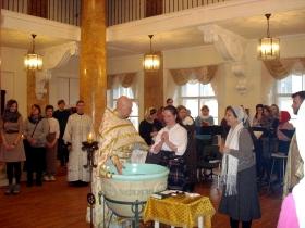 Крещение Ирины Румо и младенца Матфея Орлова