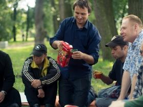 Пикник для бездомных и малоимущих