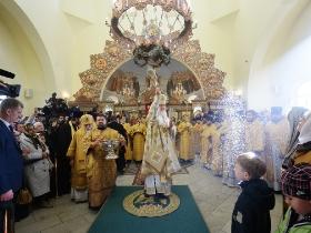 Патриарх Кирилл совершил литургию с сурдопереводом