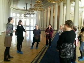 Вторая экскурсия общины неслышащих в Таврический дворец